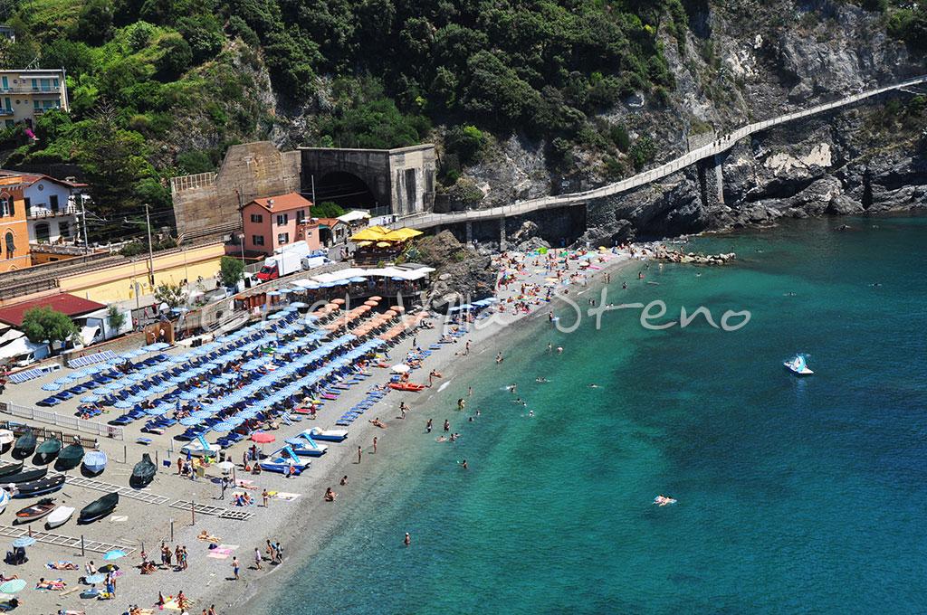 Old Town Beach Monterosso Al Mare Cinque Terre Liguria Italy
