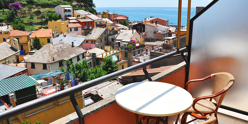 Hotel Villa Steno - View from the rooms - Monterosso al Mare Cinque Terre Liguria Italy