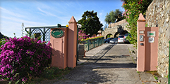 Hotel entrance and parking Hotel Villa Steno - Monterosso al Mare Cinque Terre Liguria Italy