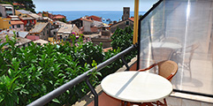 Hotel Villa Steno - View from a room with balcony - Monterosso al Mare Cinque Terre Liguria Italy
